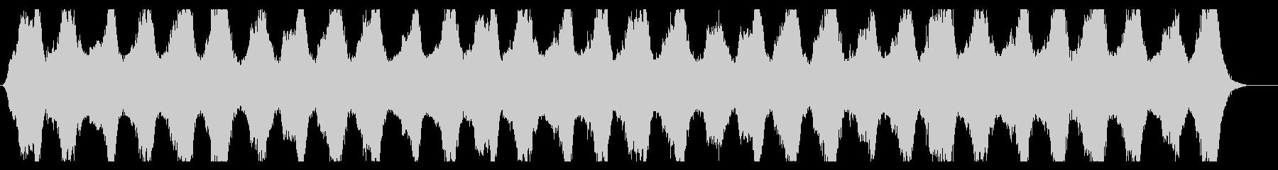 うめき声の入った不気味なBGMの未再生の波形