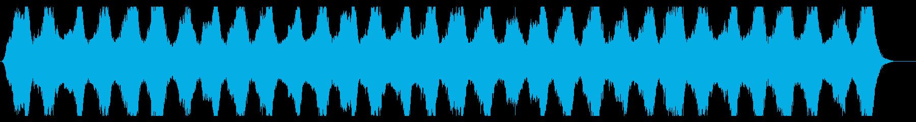 うめき声の入った不気味なBGMの再生済みの波形