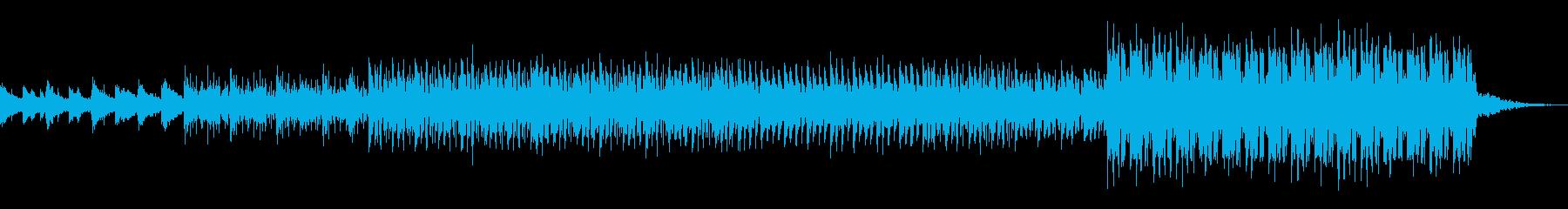 ピアノの旋律が印象的な躍動感溢れる楽曲の再生済みの波形