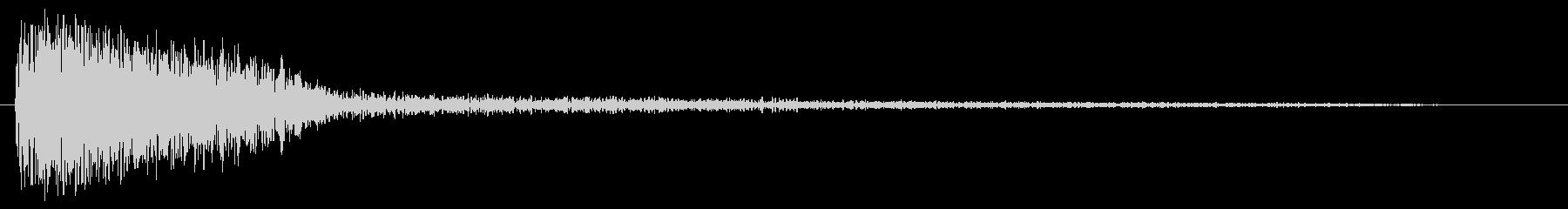ゴーン(鐘や金属の音)の未再生の波形