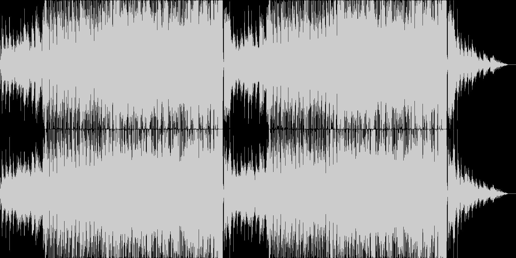 フルートとギターの穏やかなバラードの未再生の波形