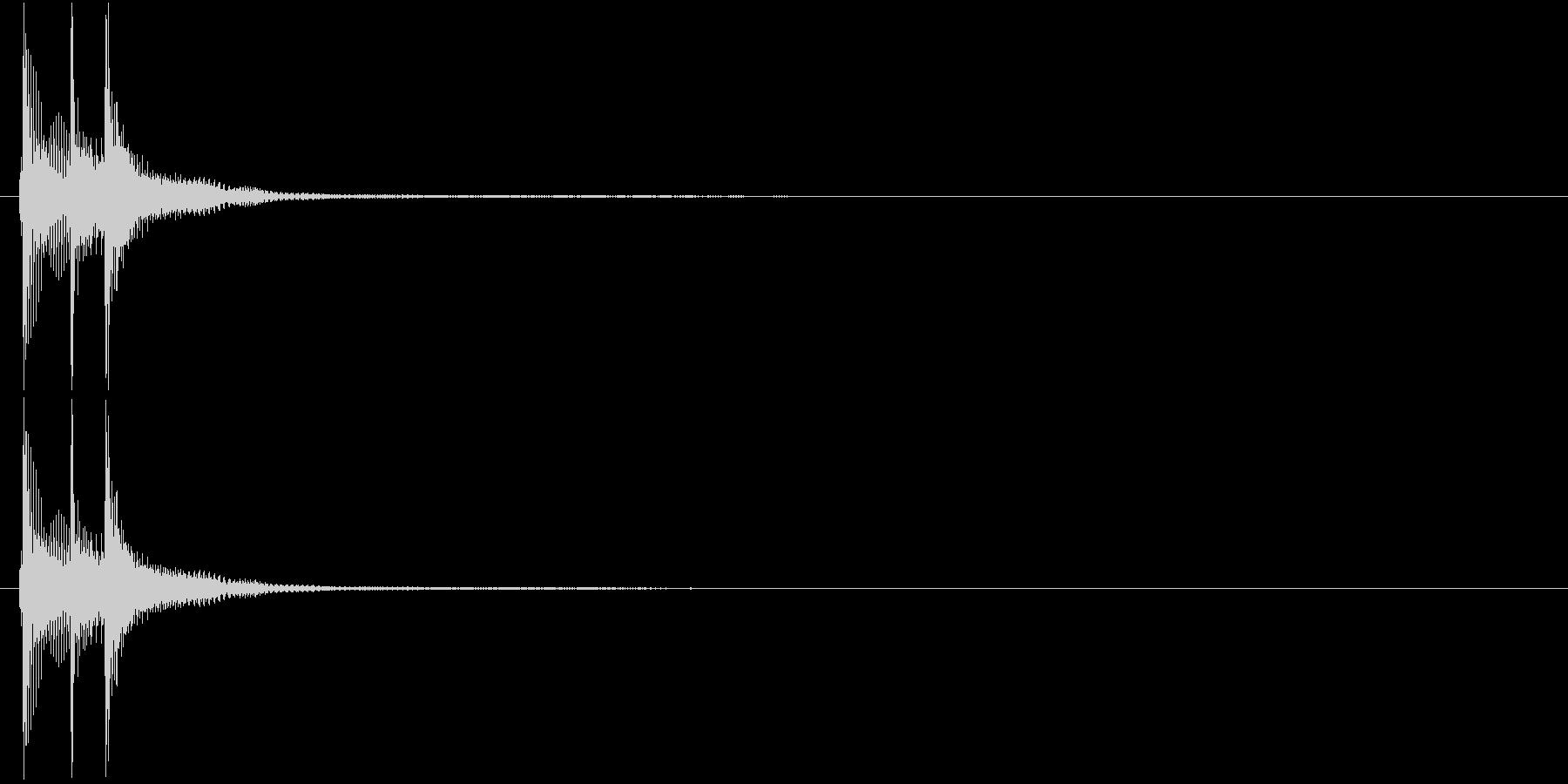 津軽三味線の生音(C-G-C音)の未再生の波形