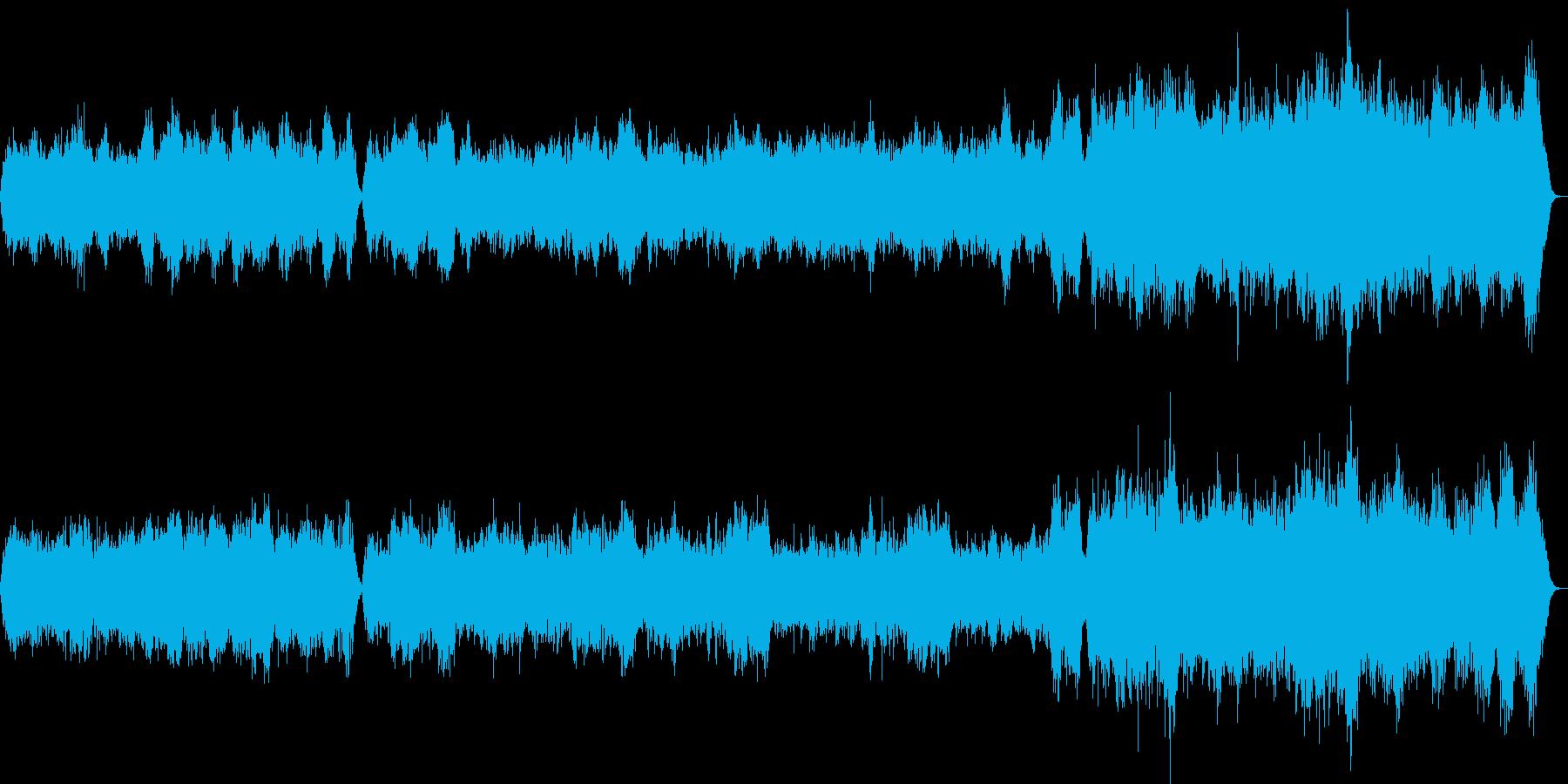 弦楽合奏曲で哀愁のあるワルツの曲の再生済みの波形