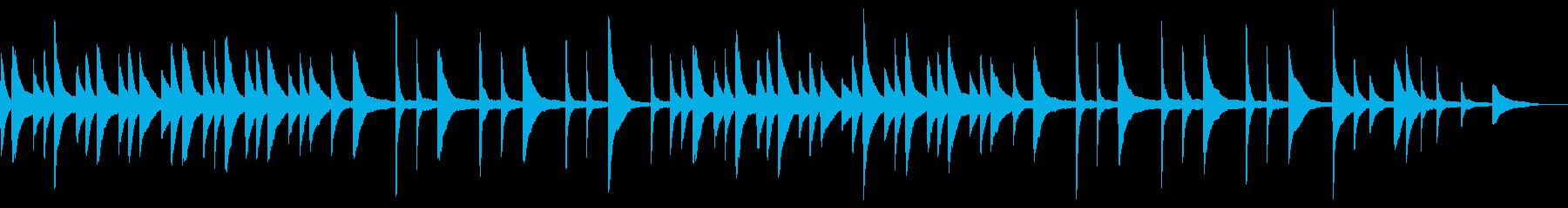 暗く穏やかな雰囲気のピアノBGMの再生済みの波形