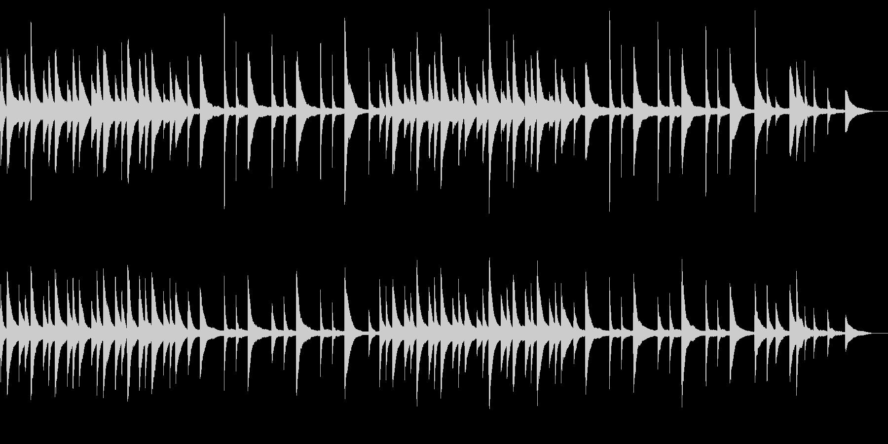 暗く穏やかな雰囲気のピアノBGMの未再生の波形