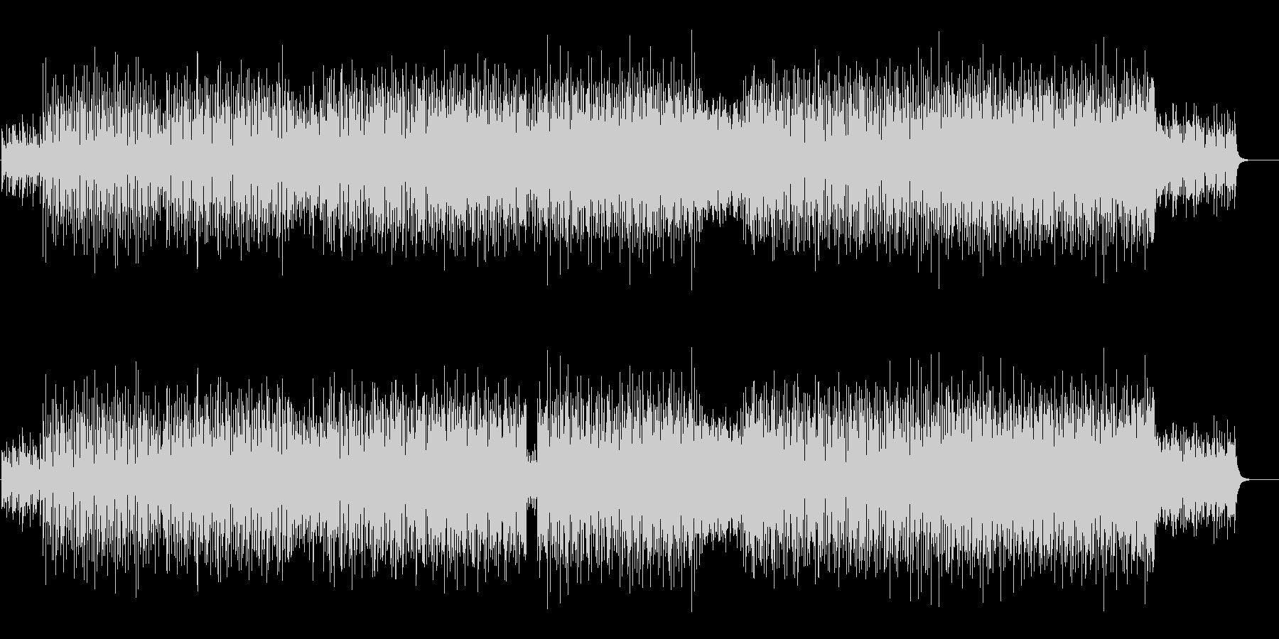 軽快なテクノポップ(ラブリーなハウス)の未再生の波形