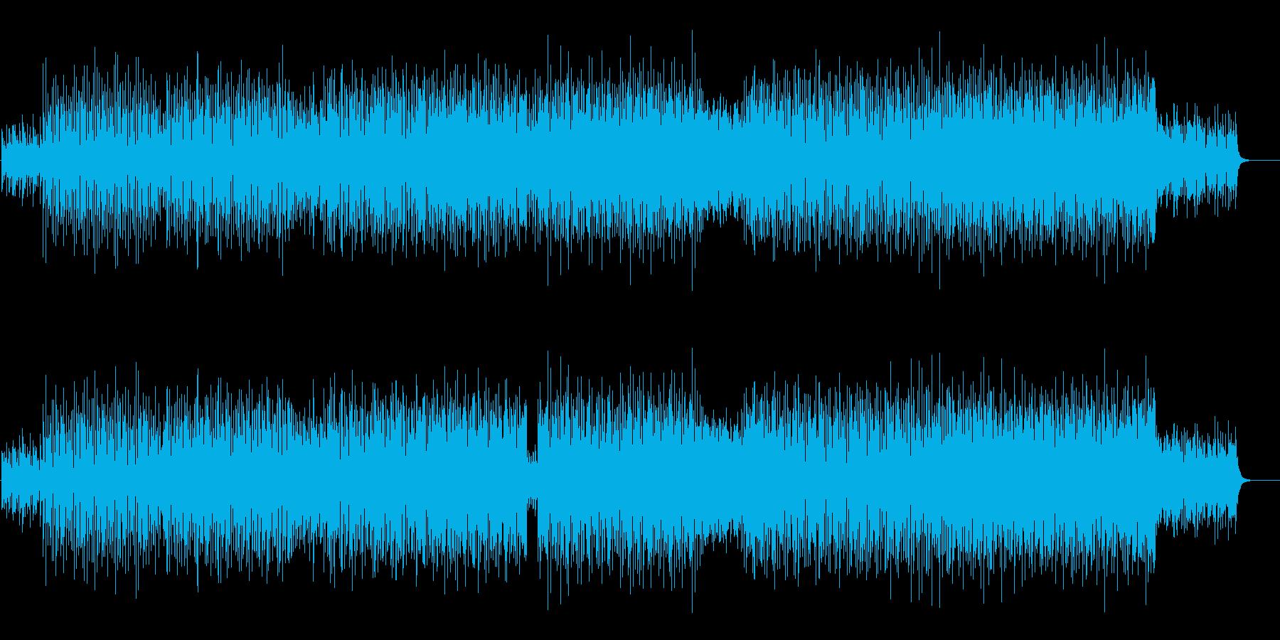 軽快なテクノポップ(ラブリーなハウス)の再生済みの波形