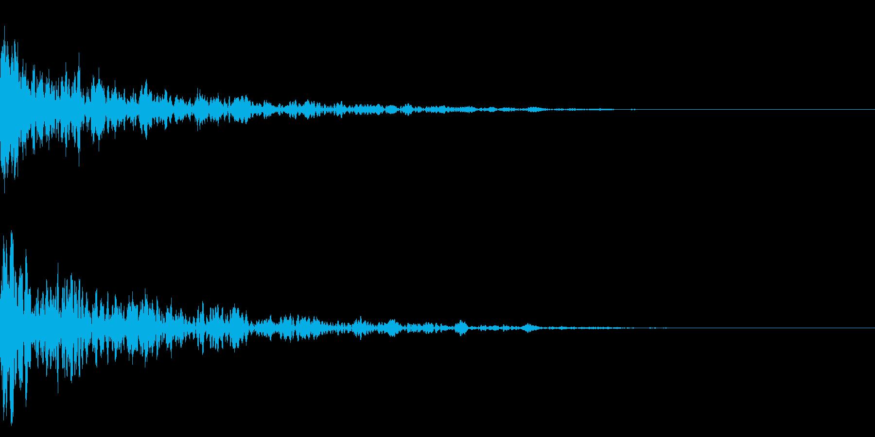 ドーン-07-1(インパクト音)の再生済みの波形