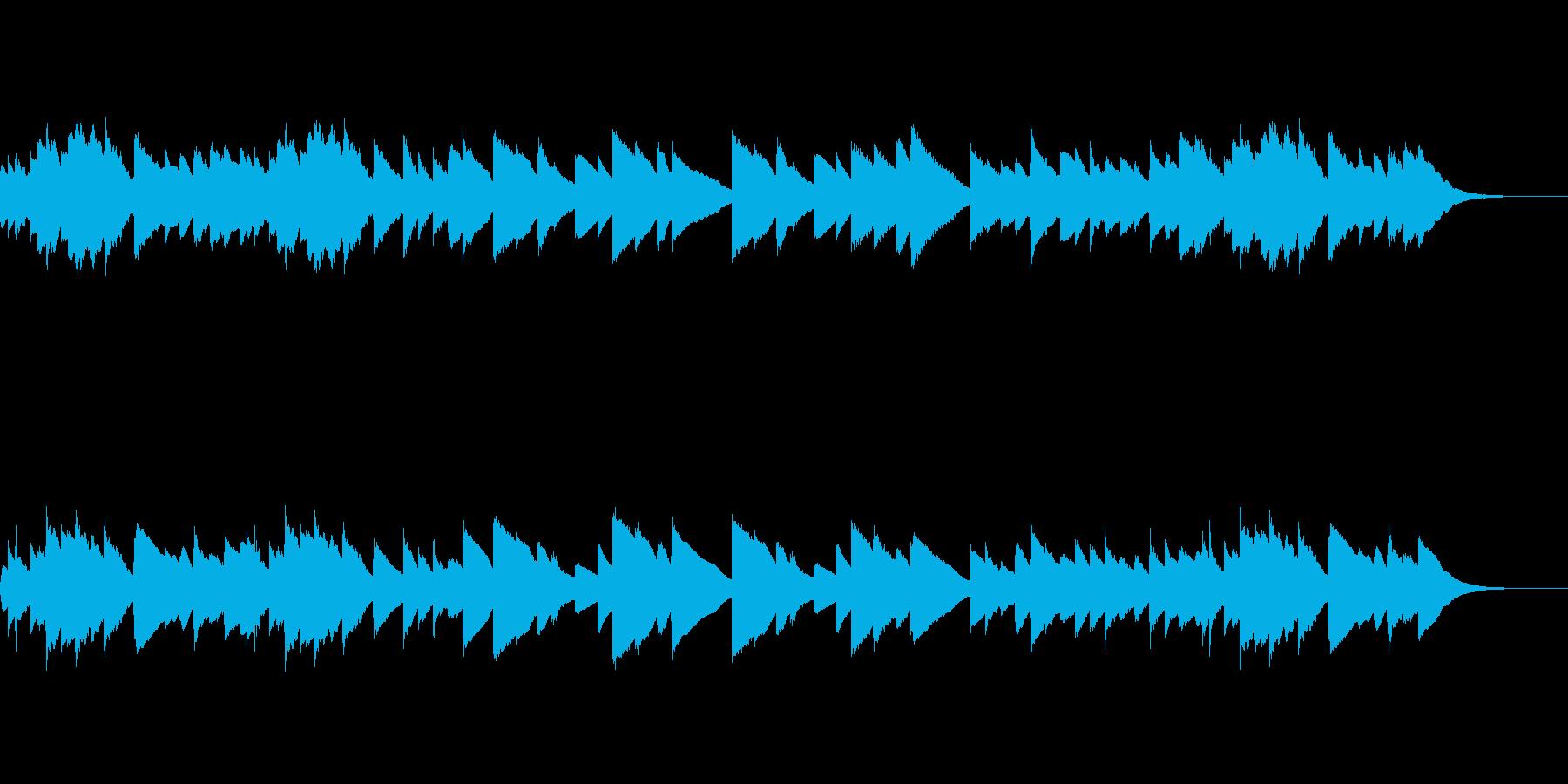 感動的で温かい癒しのチェレスタ曲(1分弱の再生済みの波形