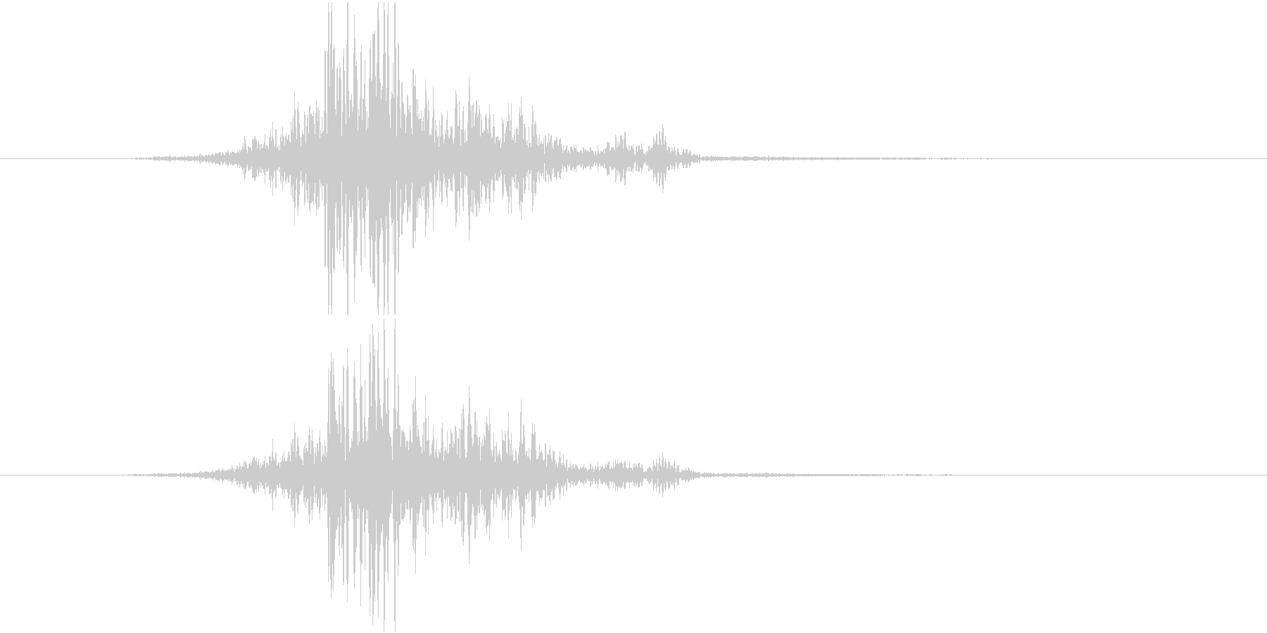 ブンッ(布を振る音)の未再生の波形