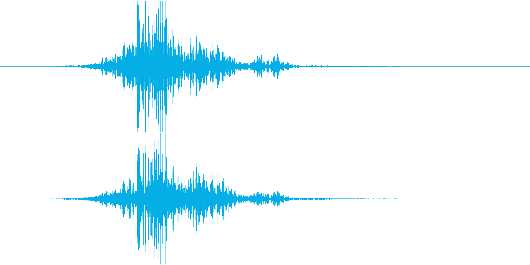 ブンッ(布を振る音)の再生済みの波形