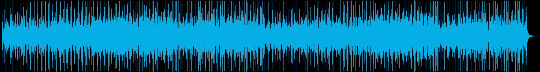 低いシンセサイザーパッドとコンガを...の再生済みの波形