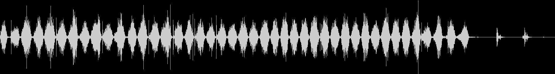 【生録音】ノコギリで物を切る音 3の未再生の波形
