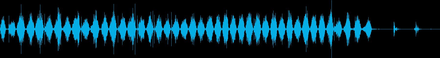 【生録音】ノコギリで物を切る音 3の再生済みの波形