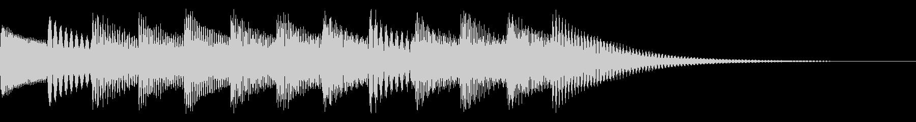 インフォメーションの音楽の未再生の波形