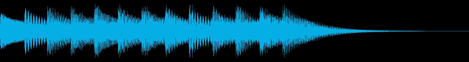 インフォメーションの音楽の再生済みの波形