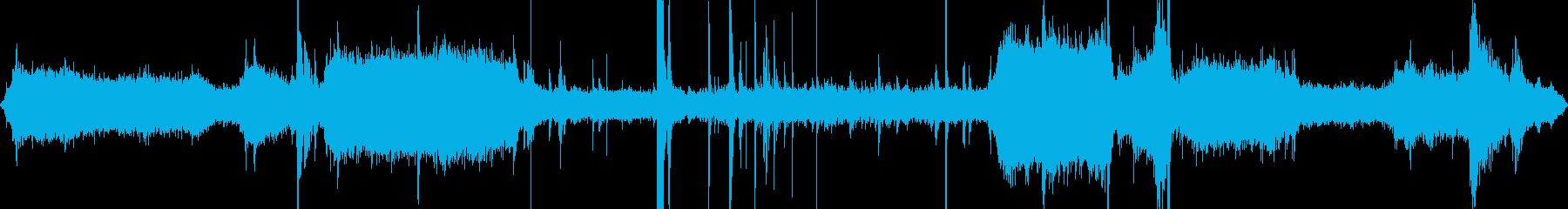 工場、工事現場の作業音Aの再生済みの波形