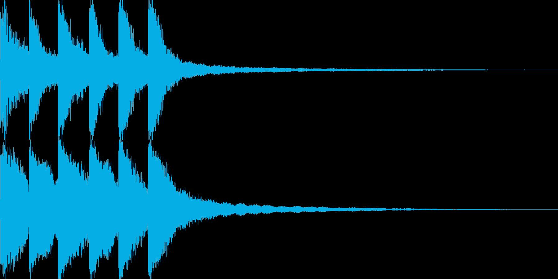 試合終了のゴングの再生済みの波形