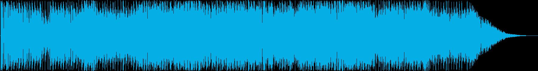 メロディのはっきりしている高速のトランスの再生済みの波形