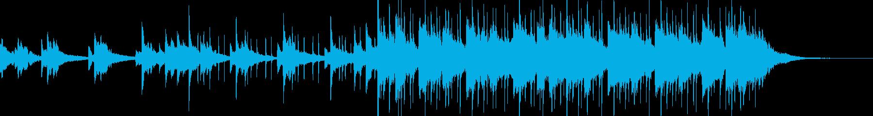 爽やかなバラードの曲の再生済みの波形