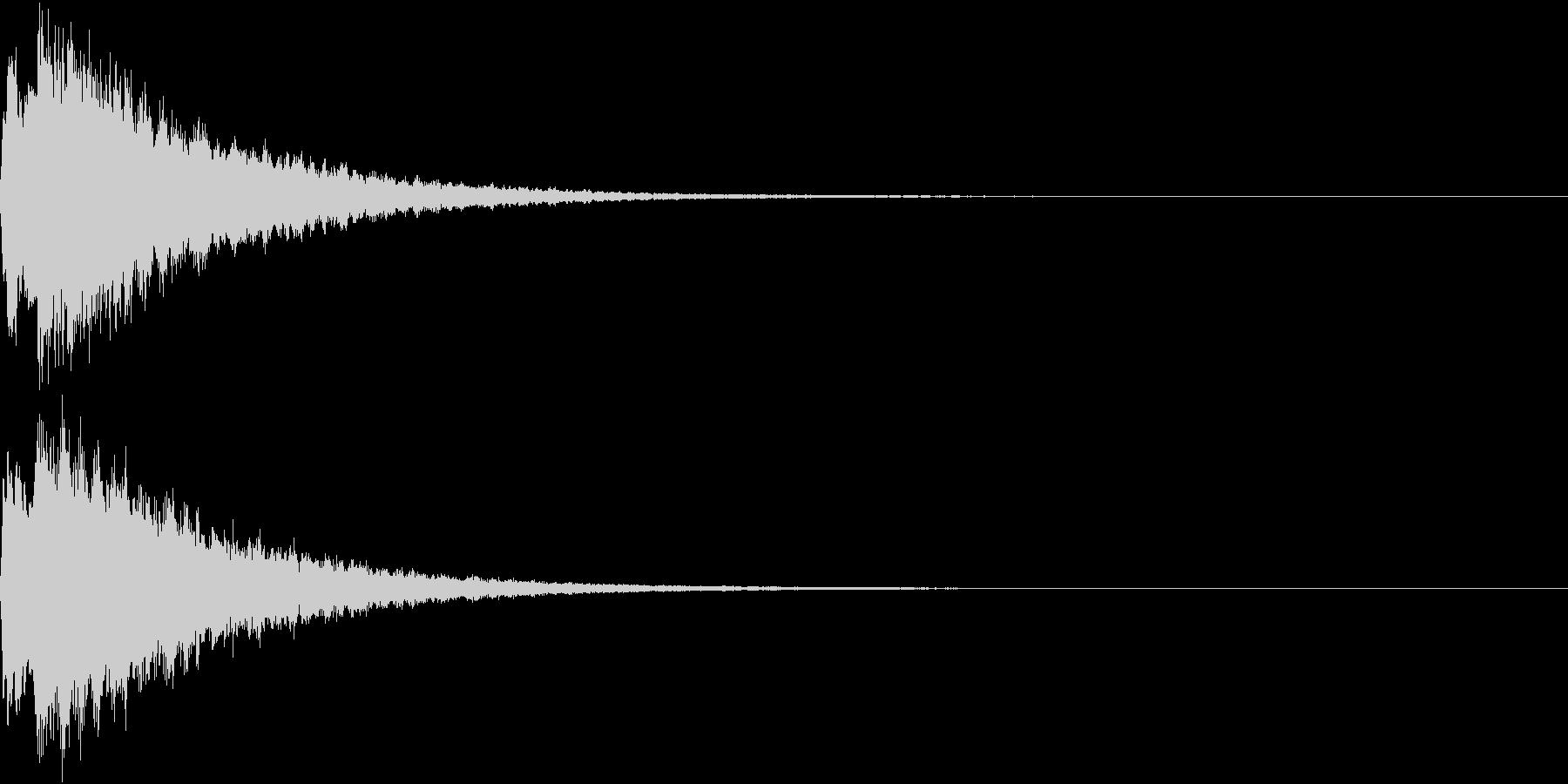 PAY 電子マネー支払い音 1の未再生の波形