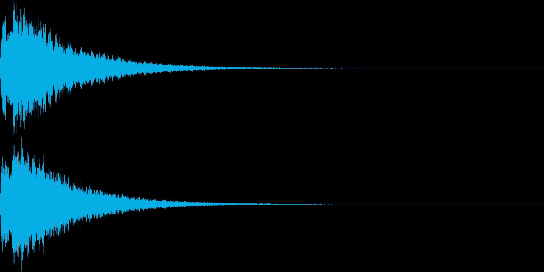 PAY 電子マネー支払い音 1の再生済みの波形