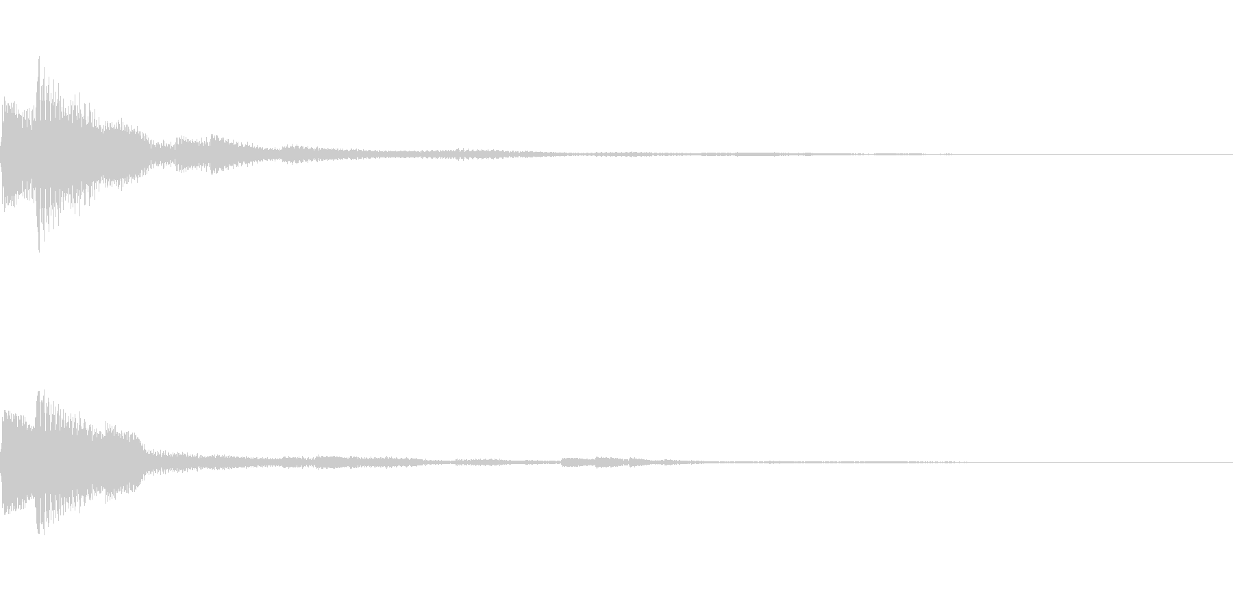 アプリなどに使える 決定効果音01の未再生の波形