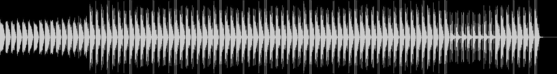 ミディアムテンポの80年代型シティポップの未再生の波形