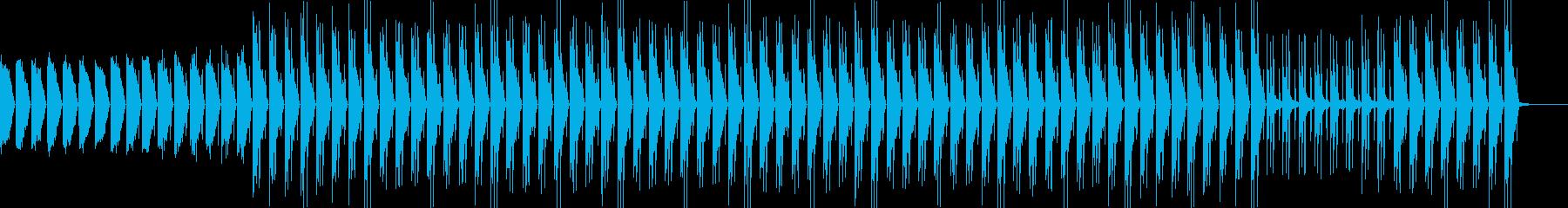 ミディアムテンポの80年代型シティポップの再生済みの波形