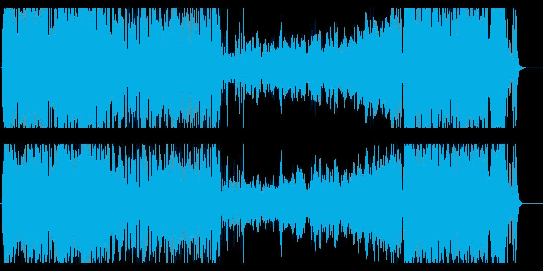 華やかに舞うミュージカル風アレンジの再生済みの波形