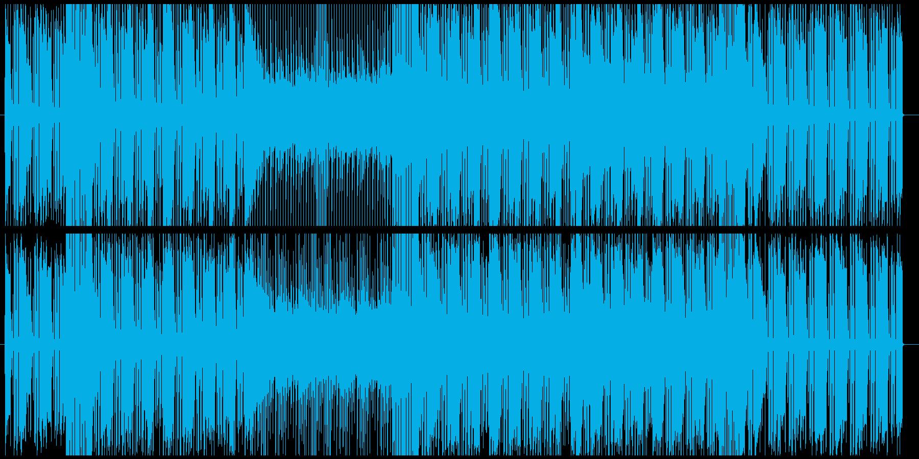 ソリッドなシンセベースが印象的なハウスの再生済みの波形