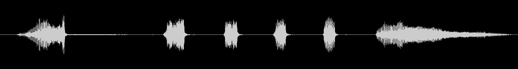 鳴き声 カズー笑い04の未再生の波形