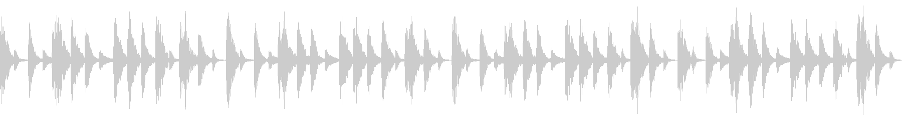 シンプルなドラムビート8小節の未再生の波形