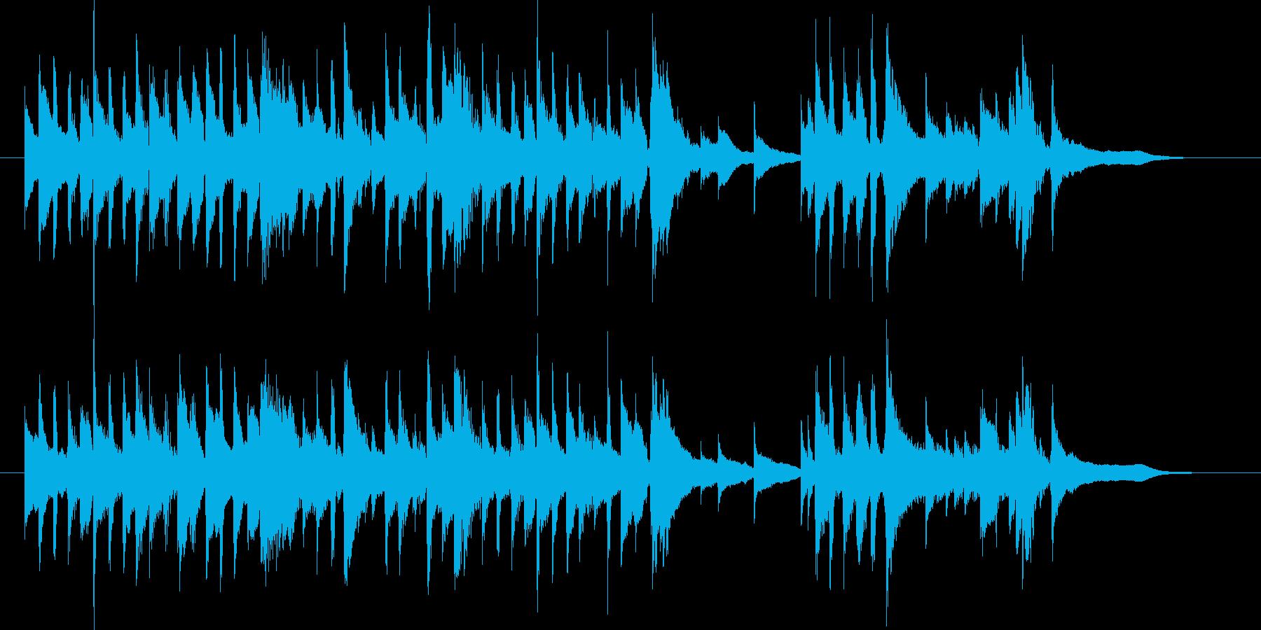 お茶コーヒーCM 穏やかギター 曲B33の再生済みの波形