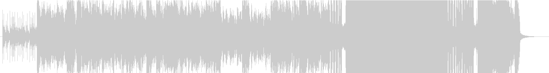 ラスボスバトル/ハードなメタルギターの未再生の波形