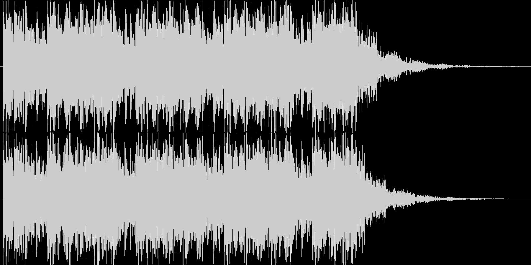 ダブステップ風のジングルの未再生の波形