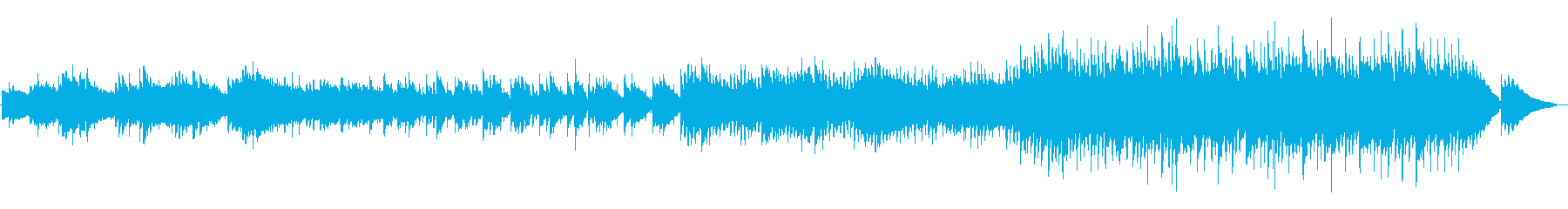 優しさ溢れるスローテンポのアコギバラードの再生済みの波形