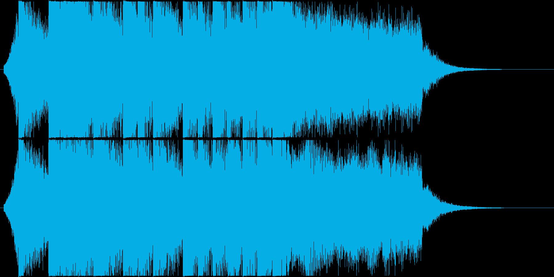 爽やかなEDM系ジングル・CMの再生済みの波形
