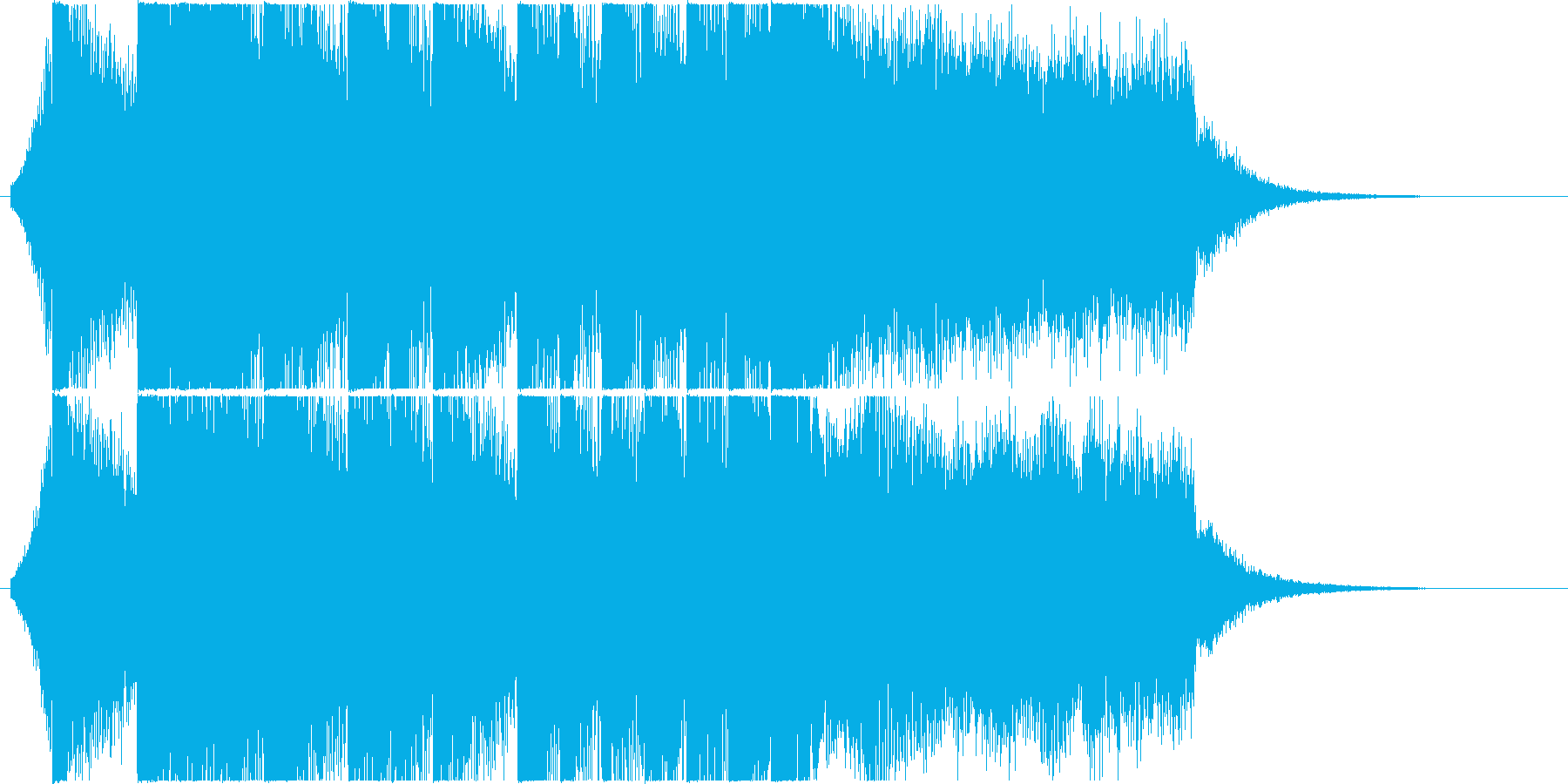 Refreshing EDM jingle / CM's reproduced waveform