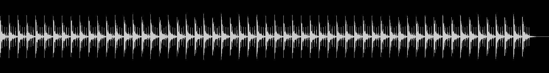 ピッピ+秒針 カウント60秒の未再生の波形