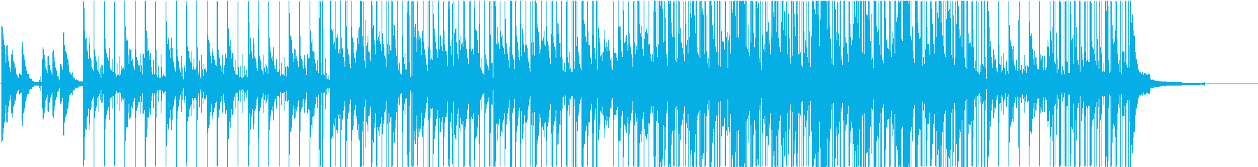 癒しの音の再生済みの波形