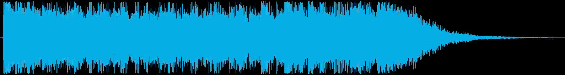 映像・ジングル・楽しいファンクの再生済みの波形