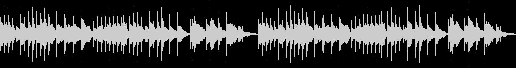 切ないメロディーのオルゴール風ループ作品の未再生の波形