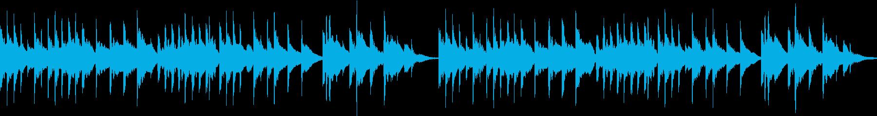 切ないメロディーのオルゴール風ループ作品の再生済みの波形