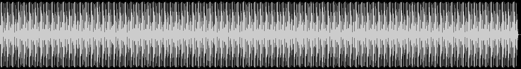 個性的な濃ゆいキックビートの未再生の波形