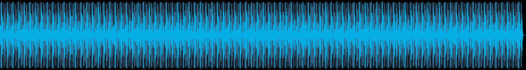 個性的な濃ゆいキックビートの再生済みの波形