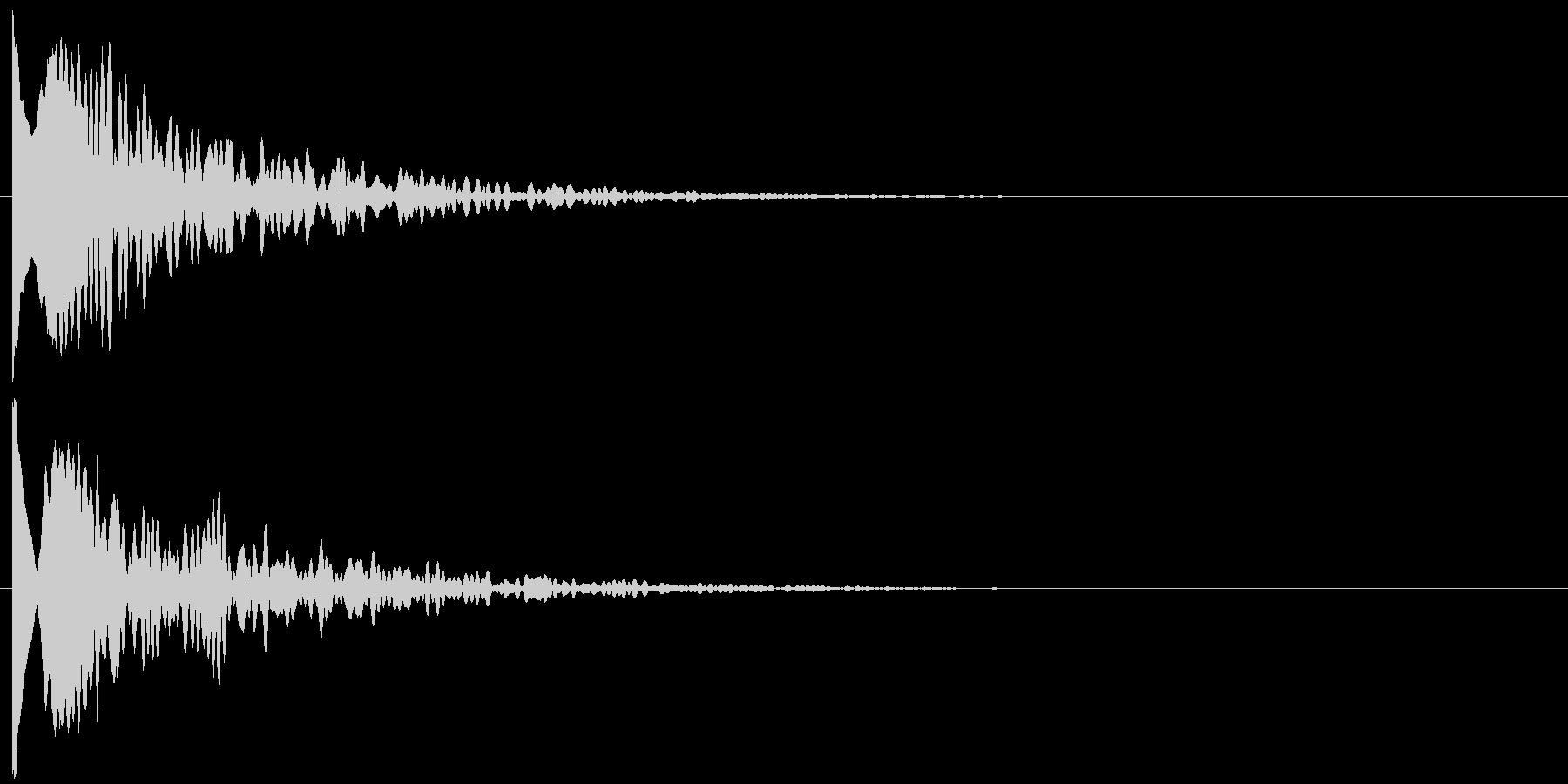 ッポーンの未再生の波形