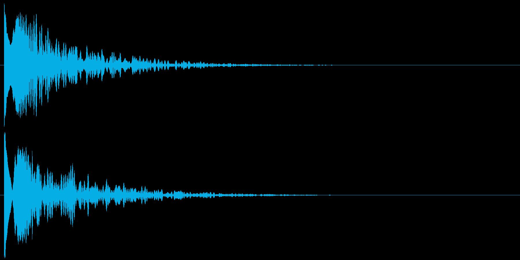 ッポーンの再生済みの波形