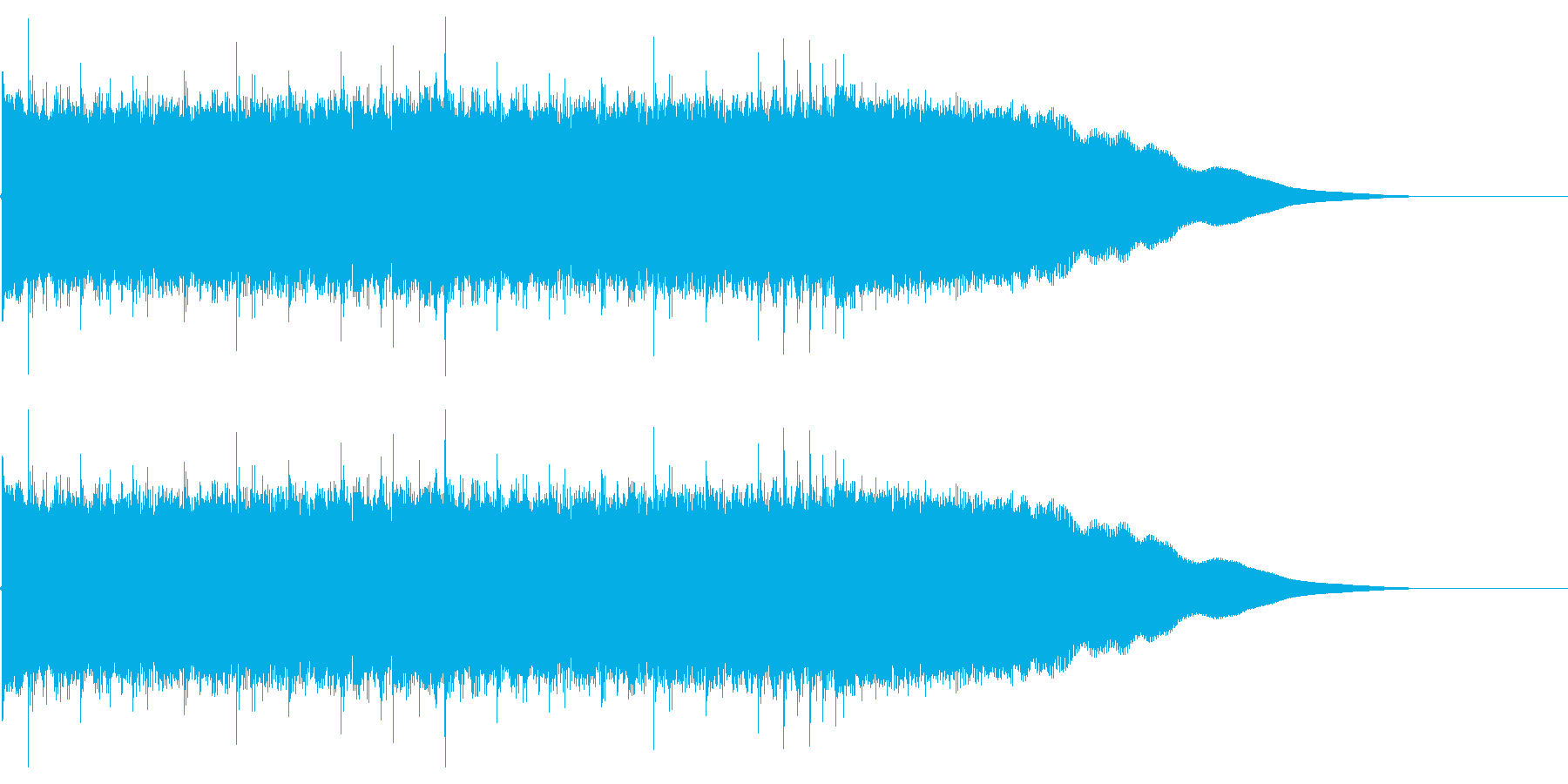 激しく短いカッコいいロックなジングルの再生済みの波形