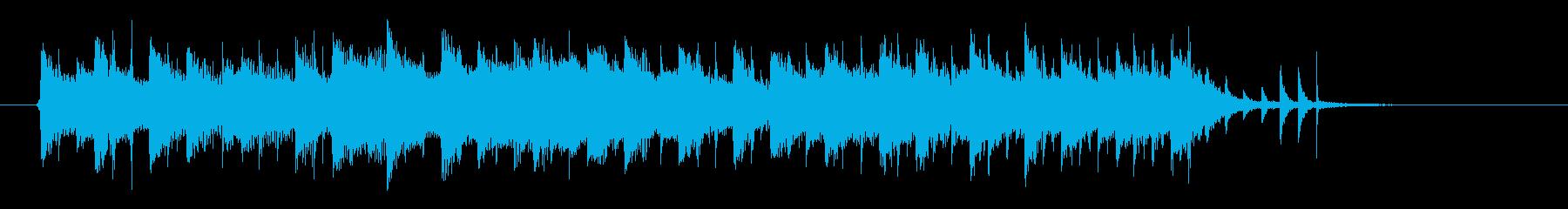 クールなシンセのテクノポップスのジングルの再生済みの波形